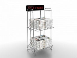Newspaper display stand 3d model