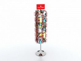 Magazine display rack 3d model