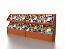 Book store magazine racks 3d model