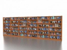 Book store display racks 3d model