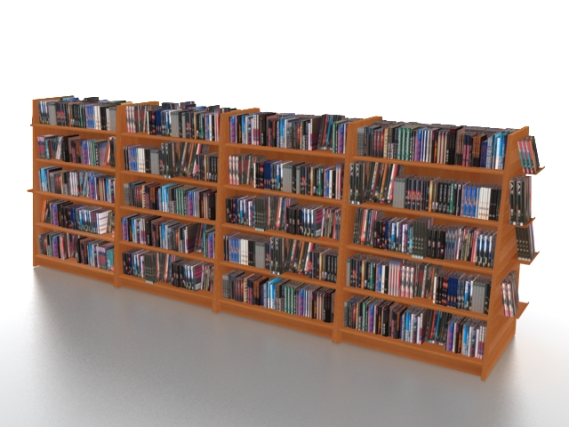 Bookstore Shelving And Displays 3d Model 3ds Max Files