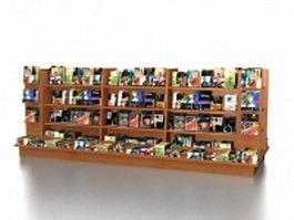 Bookstore displays fixtures 3d model