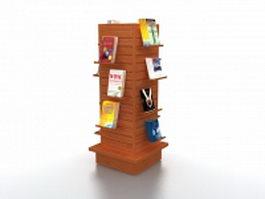 Bookstore tower display rack 3d model