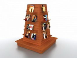 Book sale display tower 3d model