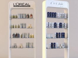 Loreal products cosmetics showcase 3d model