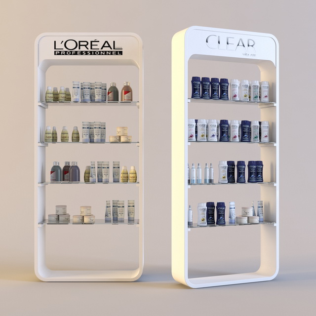 Loreal Products Cosmetics Showcase 3d Model 3d Studio 3ds