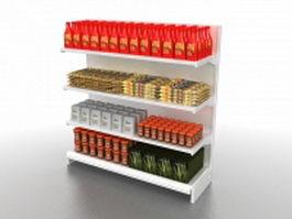 Food storage shelving system 3d model
