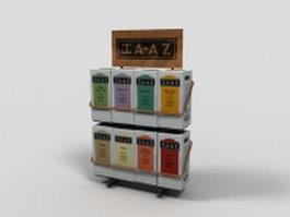 Tea box display rack 3d model
