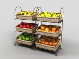 Fruit display stand 3d model