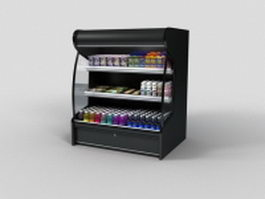 Open refrigerated display cases 3d model