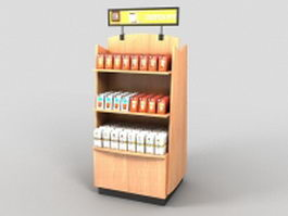 Grocery store product display stand 3d model