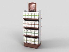 Coffee beverages display rack 3d model