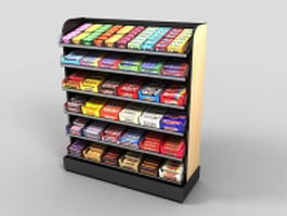 Candy display rack 3d model