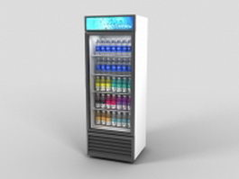 Beverage display cooler 3d model