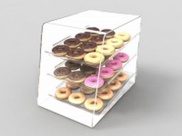 Donuts display case 3d model