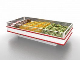 Frozen food display case 3d model