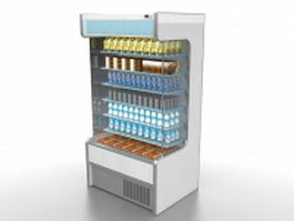 Display refrigerator 3d model