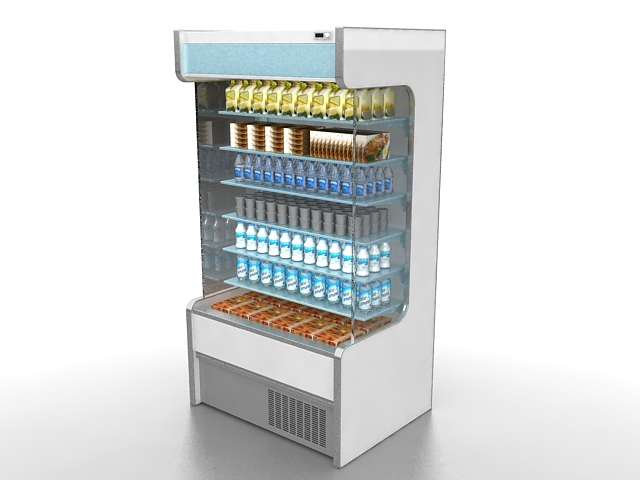 Display Refrigerator 3d Model 3ds Max Files Free Download