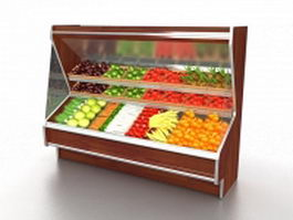Fruit and vegetable display cooler 3d model