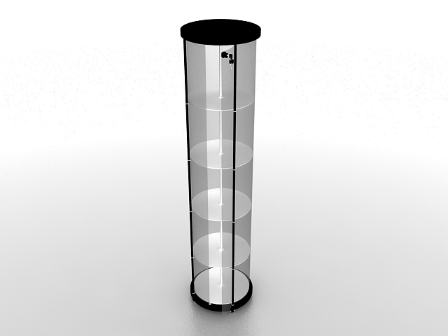 Cylinder Display 3d Model 3ds Max Files Free Download