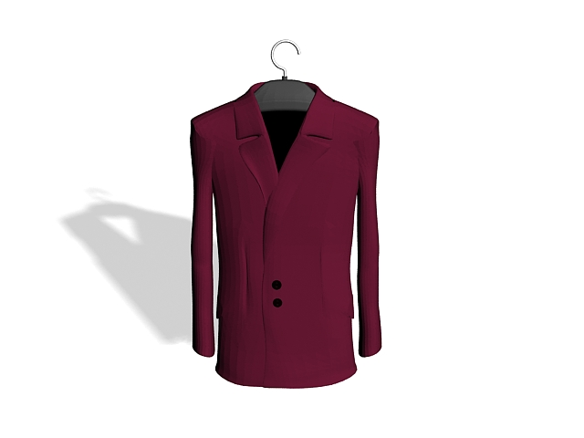 Purple dress suit 3d rendering