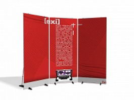 Exhibition display board 3d model