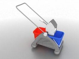 Shop floor cleaning equipment 3d model