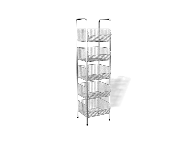 Metal store display racks 3d model 3ds max files free download