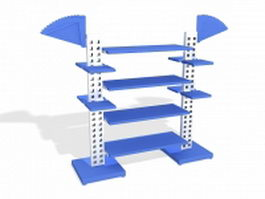 Blue display stand 3d model