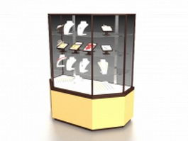 Jewelry store display cabinet 3d model