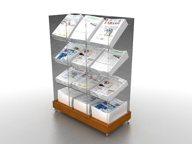 Retail Newspaper Rack 3d Model 3ds Max Files Free Download