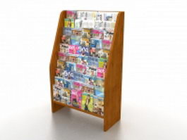 Magazine brochure rack 3d model