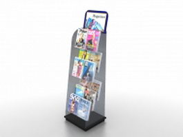 Retail magazine rack 3d model