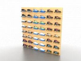 Shoe store shelving 3d model