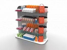 Retail cosmetic display 3d model