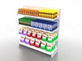 Grocery store fixtures 3d model