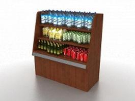 Supermarket grocery store displays 3d model