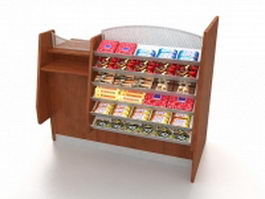 Candy store display rack 3d model