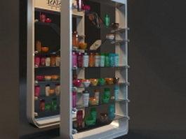 Cosmetic showcase displays 3d model