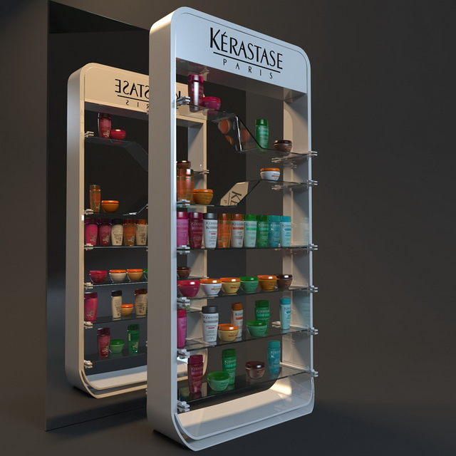 Cosmetic showcase displays 3d model 3ds max fbx object Create 3d model online free
