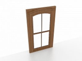Wood casement window 3d model