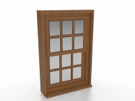 Vertical sliding windows 3d model