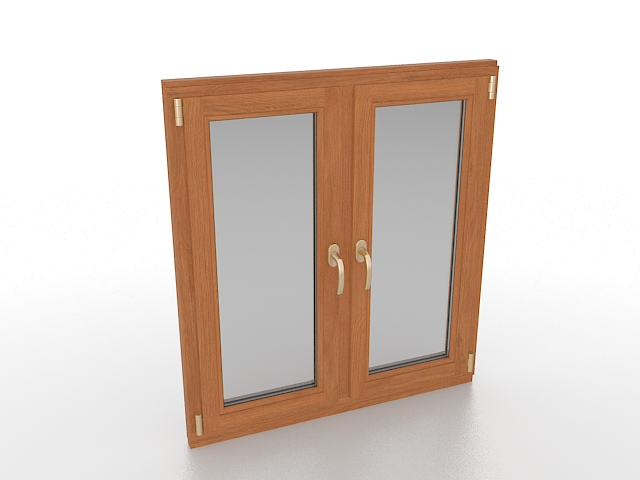 Wood Casement Window 3d Model 3ds Max Files Free Download
