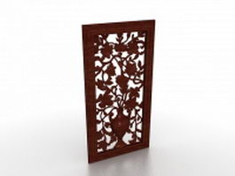 Carved window screen 3d model