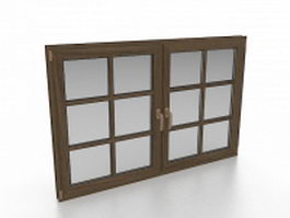 French casement windows 3d model