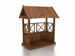 Small garden arbor 3d model
