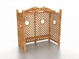 Garden arbor and trellises 3d model