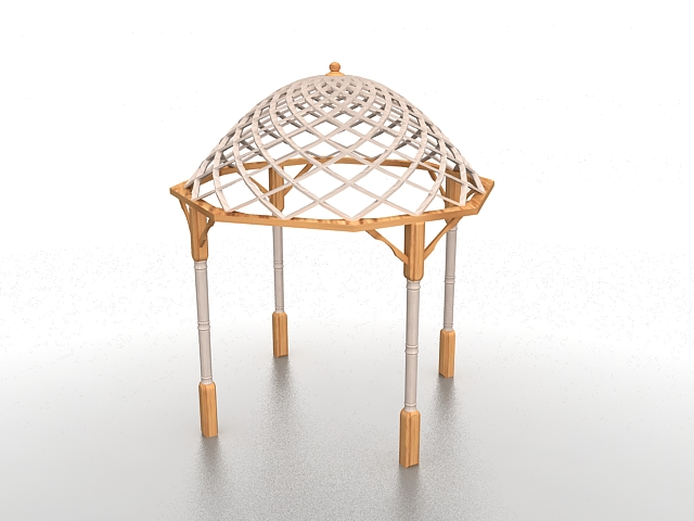 Backyard Gazebo Pergola 3d Model 3ds Max Files Free