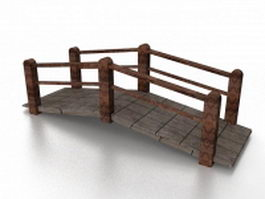 Decorative garden bridge 3d model