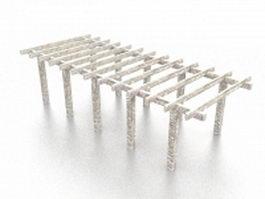 Concrete pergola 3d model